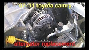 Alternator Not Charging  Battery Light On  Toyota Camry 2