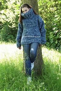 Mohair pullover blau