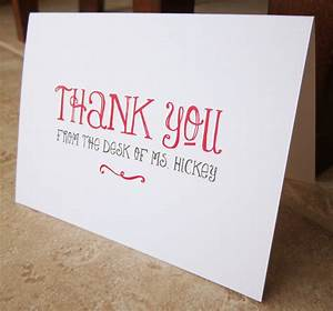 Thank You Note For A Gift From Boss Personalized Stationery Gifts For Teacher Boss Friend