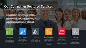 Companies Featured Services Powerpoint Template And Keynote