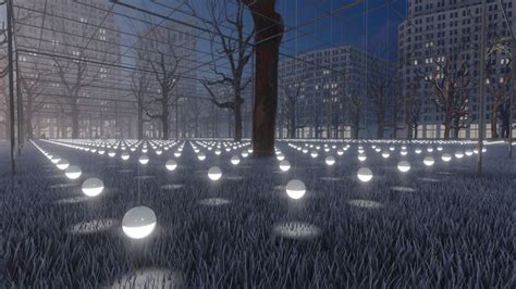 city park water and light installation is here at artist erwin redl s whiteout on view in new york city Inspirational