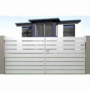 porte de garage sectionnelle motorisee avec portillon 7 With porte de garage avec portillon grillage