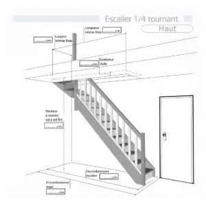 Escalier 1 4 Tournant Haut Castorama by Escalier Quart Tournant Haut