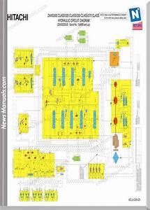 Hitachi Zaxis 200 225 230 Clas Hydraulic Wiring Diagram