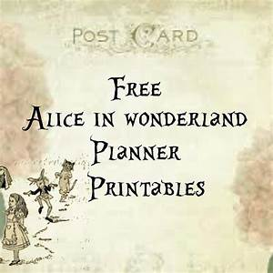 Alice in Wonderland Free Vintage Planner Printables