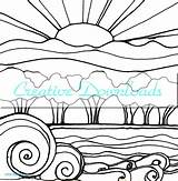 Sunset Coloring Drawing Line Sunsets Landscape Sun Drawings Printable Adults Getdrawings Robin Mead Flowers Getcolorings Clipartmag Waves Lessons sketch template