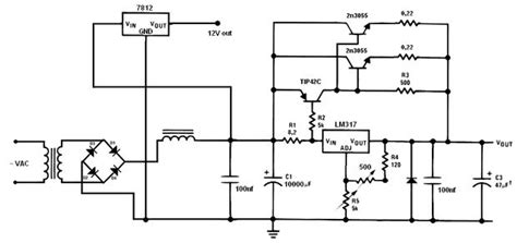 lm317 2n3055 variable circuit problems need help diyaudio