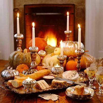 candles centerpiece ideas  thanksgiving decorating
