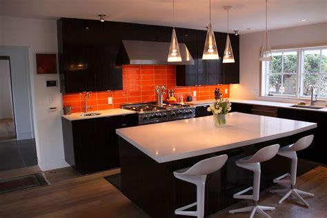 brighten   home   orange kitchen