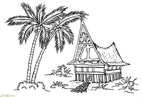 gambar animasi rumah adat indonesia kumpulan gambar bagus