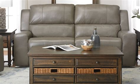 Contemporary Leather Reclining Sofa by Contemporary Leather Power Reclining Sofa Haynes Furniture