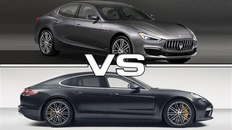 Vs Maserati by 2018 Maserati Ghibli Vs 2018 Porsche Panamera