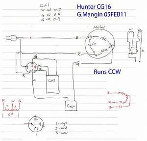 Hunter Original Ceiling Fan Wiring Diagram