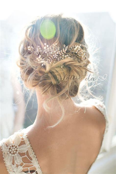 boho vintage style wedding hair accessory beaded hair