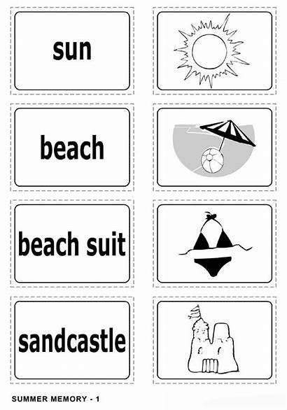 Summer Worksheet Matching Worksheets Coloring Pages