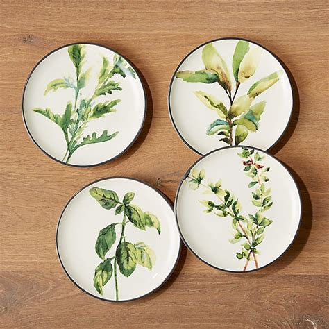 herb plates set   reviews crate  barrel