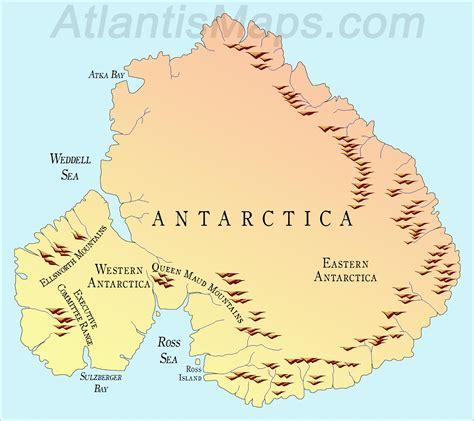 antarctica map world  travel information