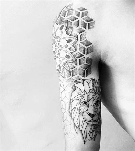 origami tattoo designs  men folded paper ink ideas