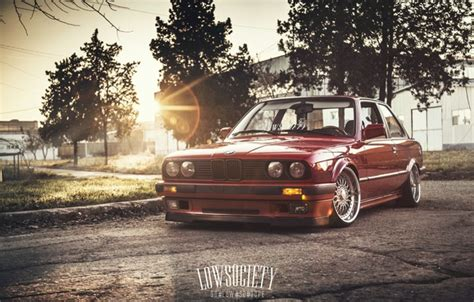 wallpaper car  sun bmw red blik    series