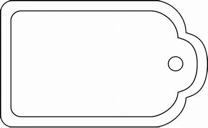 Tag Gift Blank Outline Template Clipart Clipartbest