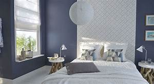 decoration chambre papier peint et peinture With couleur de peinture de salon 7 50 photos avec des idees pour poser du papier peint intisse