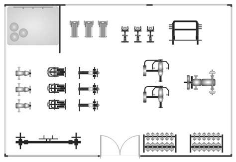 Gym And Spa Area Plan