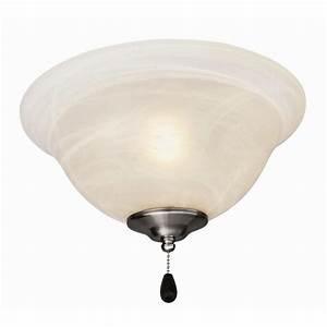 Design house light satin nickel ceiling fan kit