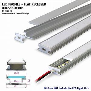 Led Strip Profil : flat recess profile aluminum profile with opal matte diffuser for led strip light applications ~ Buech-reservation.com Haus und Dekorationen