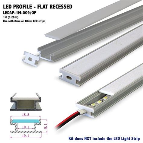 FLAT RECESS Profile. Aluminum Profile with Opal Matte