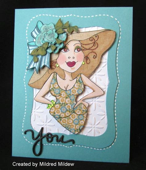 Another Fun 'girlfriend' Card Created With Loralie Art Stamp,style 701028, Jane Adams Both Her