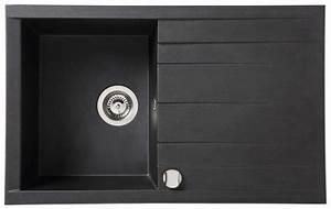 évier En Résine Noir : vier encastrer ising noir en r sine 1 cuve dim l 80 ~ Premium-room.com Idées de Décoration