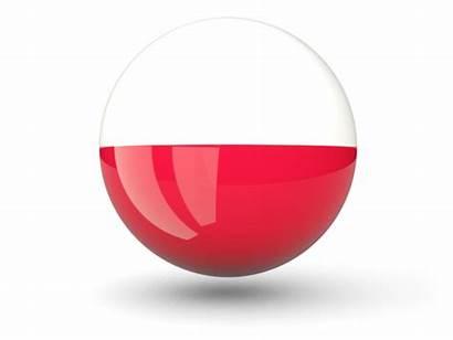 Poland Flag Icon Transparent Clipart Sphere Clip