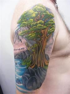 Tatouage Arbre Japonais : tatouage paule arbre paysage par sonic tattoo ~ Melissatoandfro.com Idées de Décoration