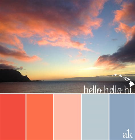 hawaii colors a hawaiian sunset inspired color palette akula kreative