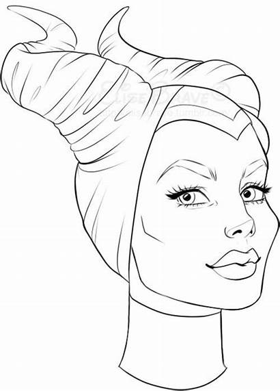Maleficent Drawing Coloring Pages Disney Draw Drawings