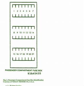 1996 Nissan 300zx Passenger Compartment Fuse Box Diagram