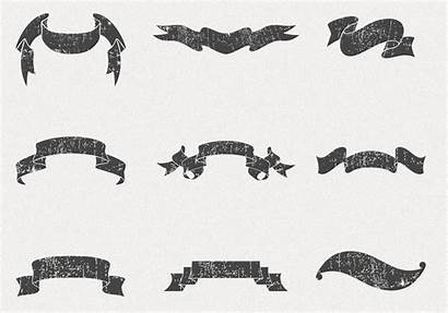 Ribbon Vector Banners Psd Grungy Pack Photoshop