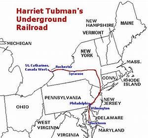Harriet Tubman Underground Railroad Map | Harriet Tubman's ...