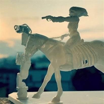 Diorama Westworld Woman Riding Horse Caballo Montando