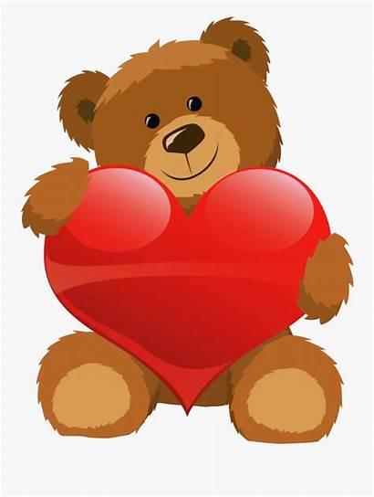 Teddy Bear Heart Clipart Clip Cartoon Transparent