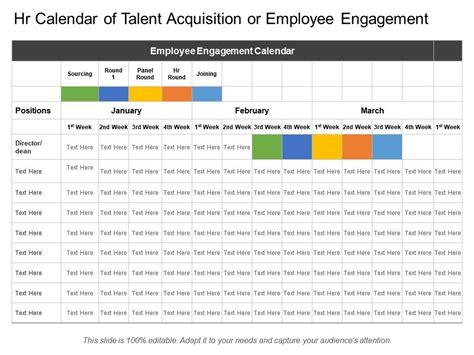 hr calendar talent acquisition employee engagement
