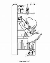 Shelf Coloring Elf Colouring Shelves Toys Toy Sheets Printable Template sketch template