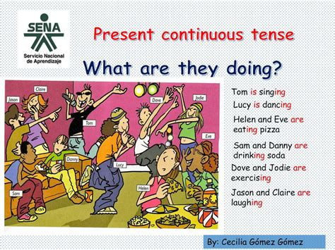calameo present continuous tense  daily routines