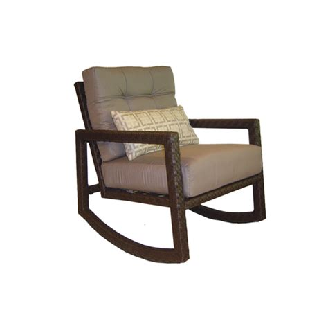 wicker allen roth lawley patio rocking chair side table