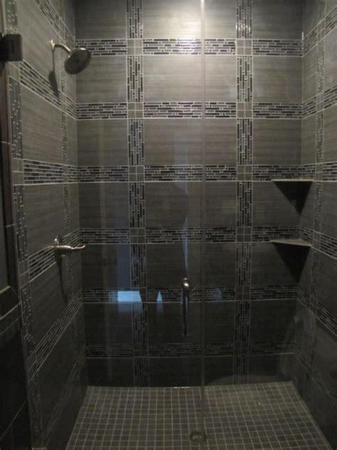 modern shower tile ideas glass tile shower contemporary tile chicago by schilling