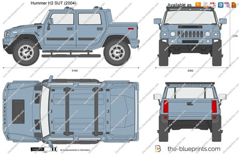 Hummer H2 Sut Vector Drawing