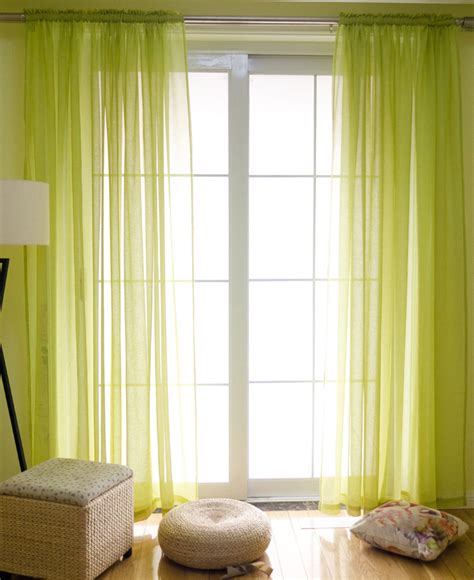 american style linen gauze curtains solid color pinch