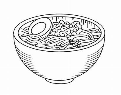 Ramen Bol Coloring Pasta Coloriage Colorare Bowl
