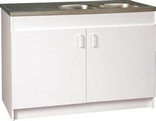 meuble sous 233 vier 2 portes m 233 lamin 233 larg 60cm 100cm coloris blanc gedimat fr