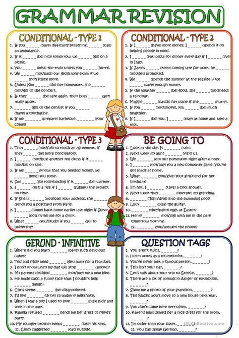 grammar revision worksheet  esl printable worksheets